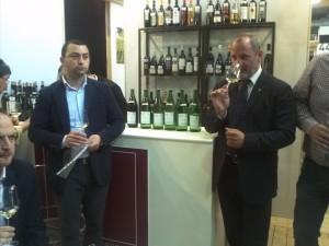 I vini in degustazione presentati dall'enologo CRA Francesco Mazzone e dal delegato ONAV Enzo Scivetti