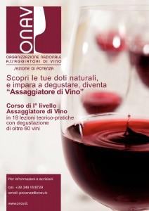 Corso ONAV per Assaggiatori vino in Val d'Agri a Viggiano