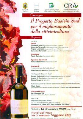 BASIVIN SUD: Ricerca di Vitigni Autoctoni e vini di Basilicata
