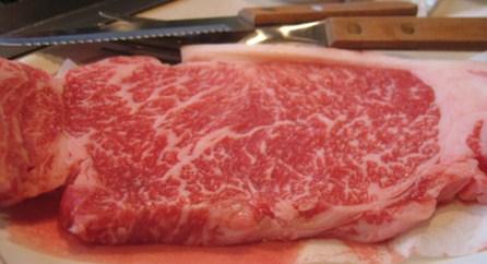 La carne Kobe al ristorante Il Capotavola